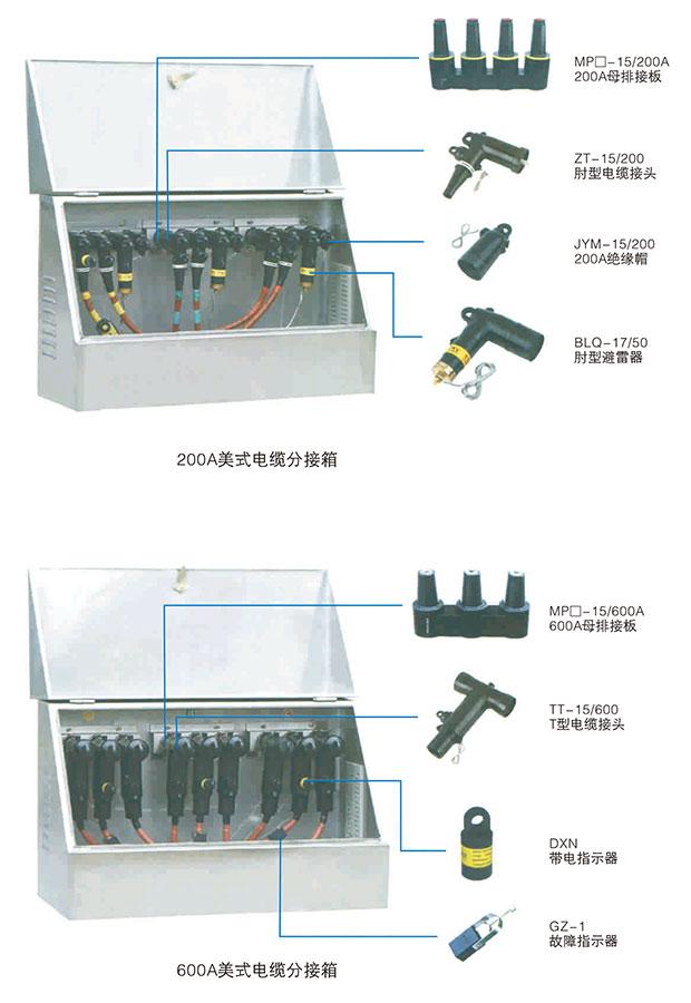 美式电缆分接箱技术参数5